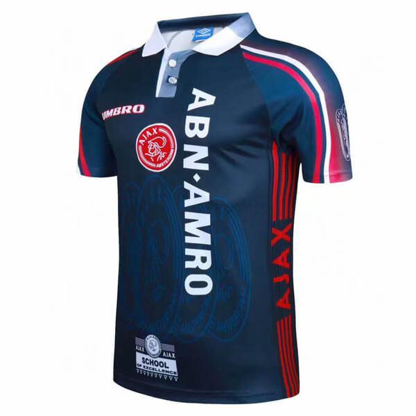 Ajax away retro soccer jersey maillot match men's 2ed sportwear football shirt 1997-1998