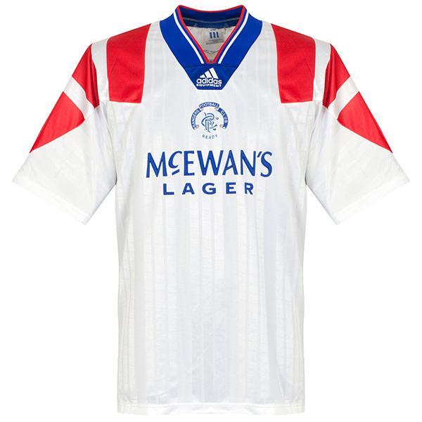 Rangers away retro soccer jersey maillot match men's 1st sportwear football shirt 1992-1994