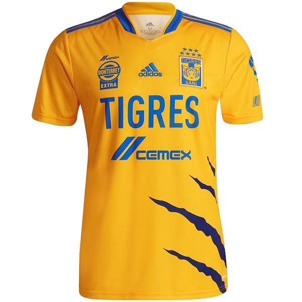 Tigres home jersey partita di calcio da uomo prima maglia sportiva da calcio maglia sportiva 2021-2022