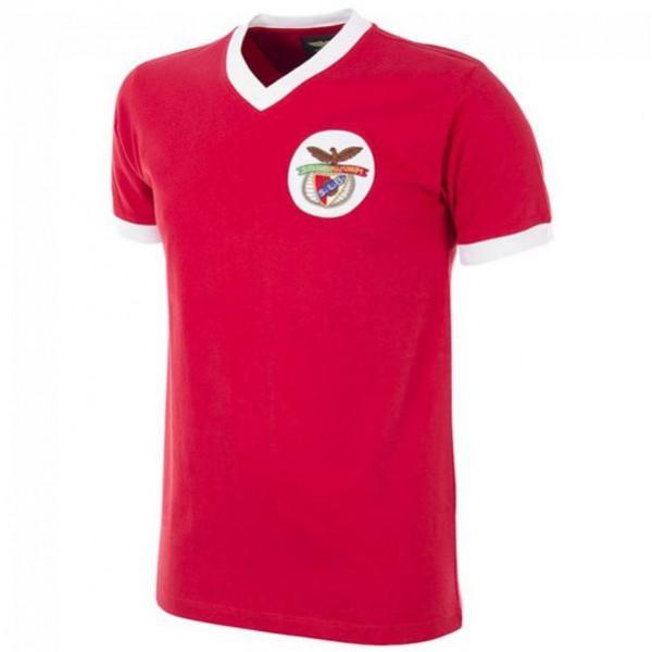 Benfica maglia retrò casalinga del prima maglia sportiva da uomo di abbigliamento sportivo da calcio 1974-1975