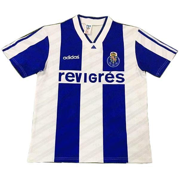 FC Porto Maglia da calcio vintage retrò partita prima maglia da calcio sportiva da uomo bianca 1994-1995