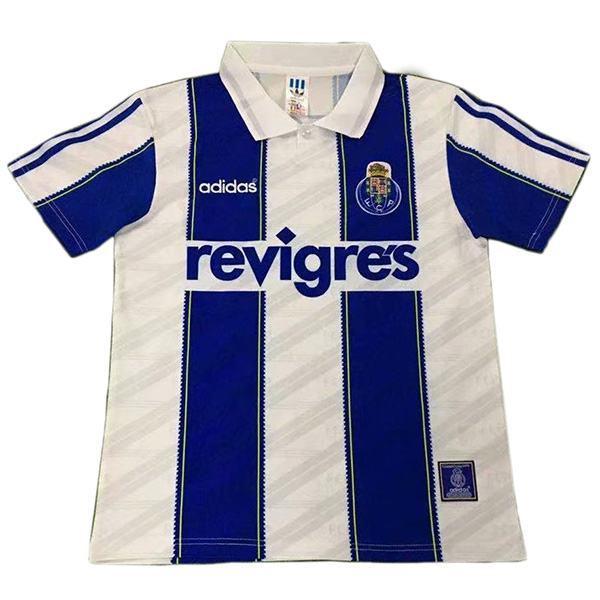 FC Porto maglia da calcio vintage retrò partita prima maglia da calcio sportiva da uomo bianca 1995-1997