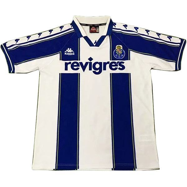 FC Porto Maglia da calcio vintage retrò partita prima maglia da calcio sportiva da uomo bianca 1997-1999
