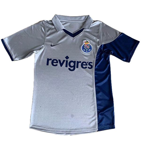 Porto away retro soccer jersey maillot match men's 2ed sportwear football shirt 2001