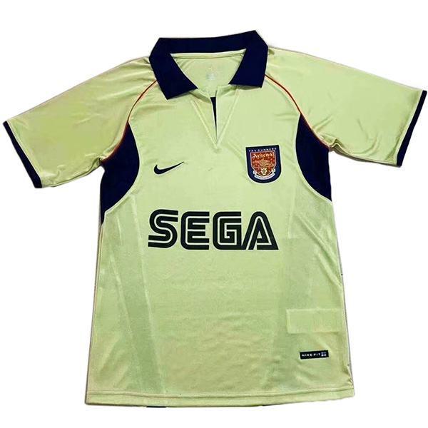 Arsenal away retro soccer jersey maillot match seconda maglia da calcio sportiva da uomo 2002