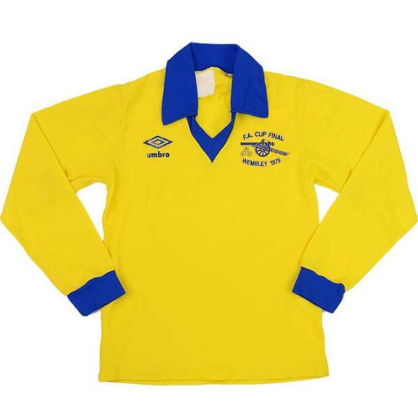 Arsenal maglia storica da trasferta dell'seconda maglia da calcio sportiva da uomo vintage a maniche lunghe da partita di calcio 1971-1979