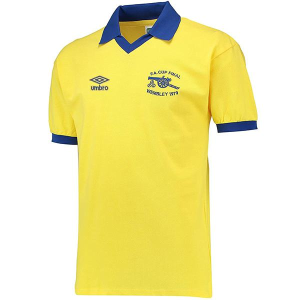 Arsenal maglia storica da trasferta dell'seconda maglia da calcio sportiva da uomo vintage partita di calcio 1971-1979