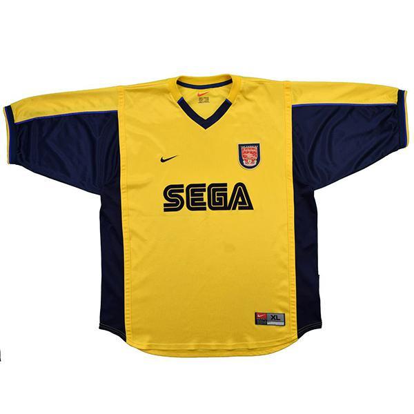 Arsenal away retro soccer jersey maillot match men's 2ed sportwear football shirt 1990-2001