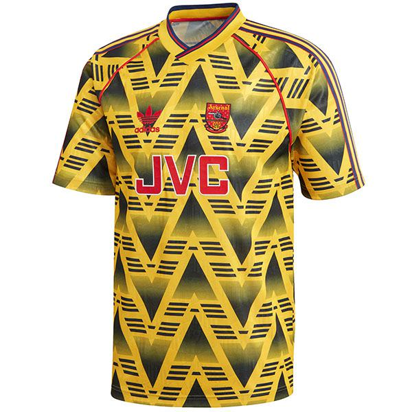 Arsenal away retro soccer jersey maillot match men's 2ed sportwear football shirt 1991-1993