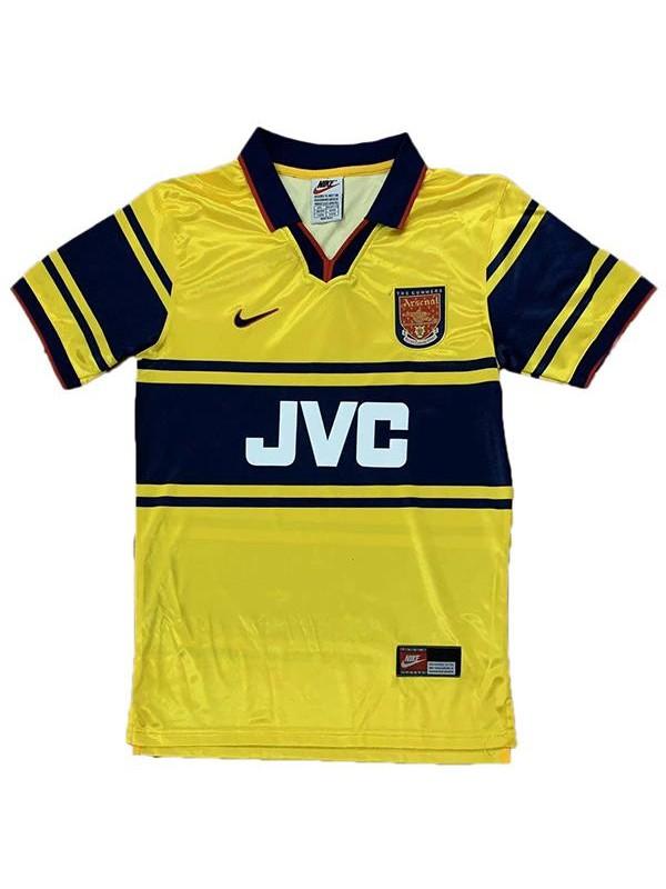 Arsenal away retro soccer jersey maillot match men's 2ed sportwear football shirt 1997