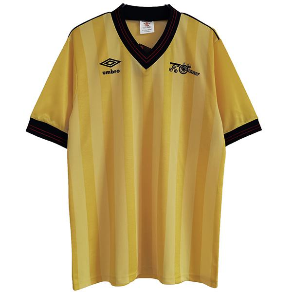 Arsenal maglia da calcio retrò da trasferta dell'maillot match seconda maglia da calcio sportiva da uomo 1983-1986
