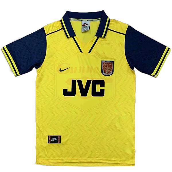 Arsenal maglia da calcio retrò da trasferta dell'maillot match seconda maglia da calcio sportiva da uomo 1996