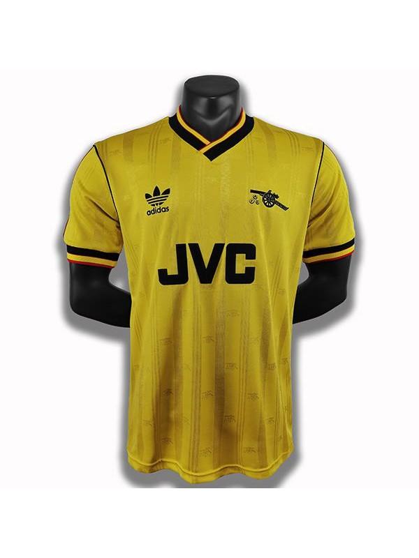 Arsenal away retro soccer jersey maillot match second men's sportwear football shirt 1986-1988