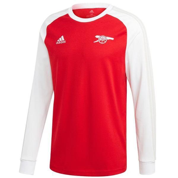 Arsenal home manica lunga retro jersey icone manches longues prima maglia da calcio sportiva da uomo