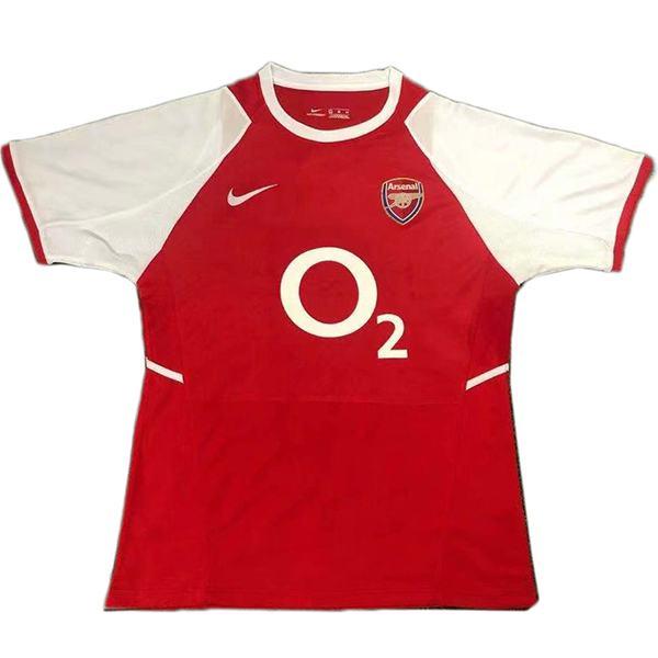 Arsenal maglia retrò da casa prima maglia da calcio per abbigliamento sportivo da uomo 2002-2004
