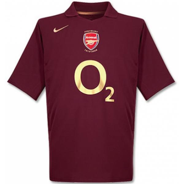 Arsenal home retro jersey men's first soccer sportwear football shirt 2005/2006