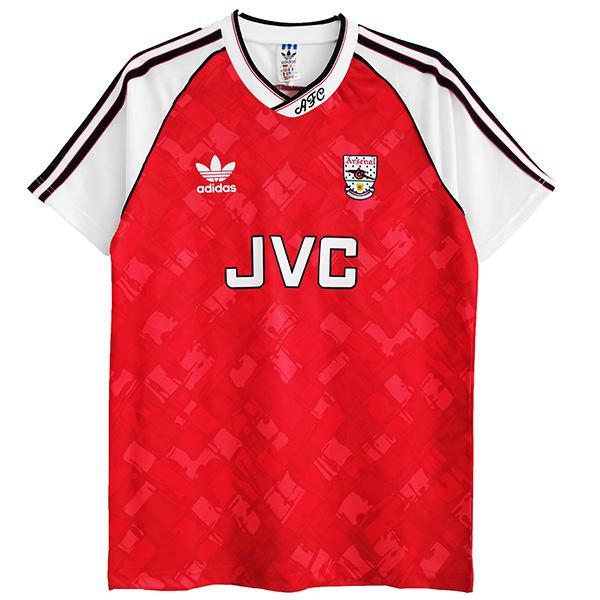 Arsenal Maglia da calcio retrò dell'home maillot match prima maglia da calcio sportiva da uomo 1990-1992