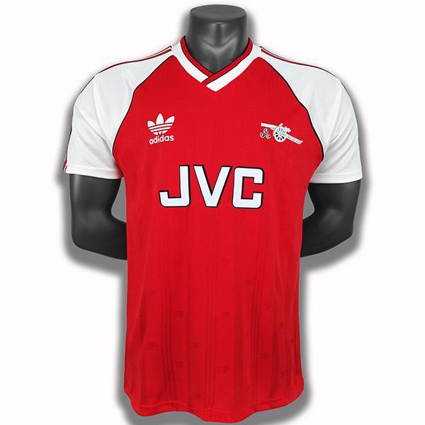 Arsenal home retro soccer jersey maillot match first men's sportwear football shirt 1988-1989