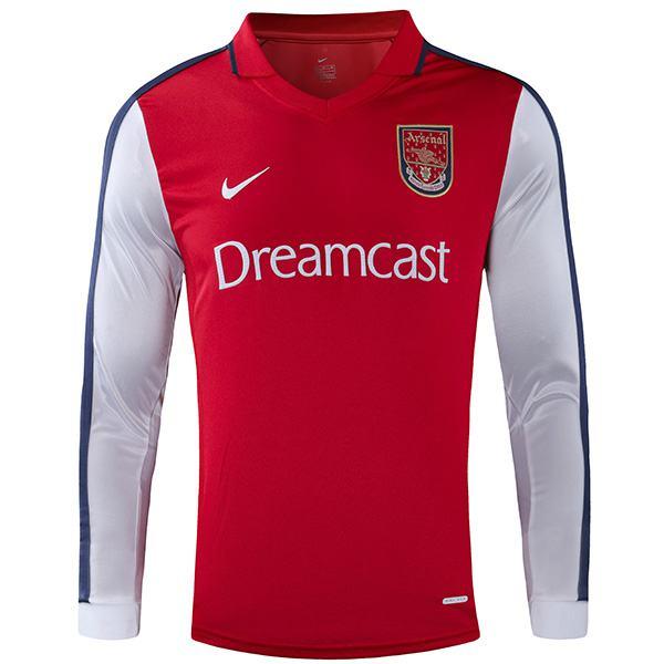 Arsenal home retro soccer jersey maillot match first men's sportwear football shirt 2000-2001