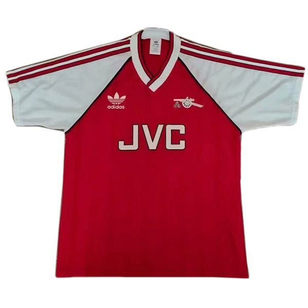Arsenal home retro soccer jersey maillots domicile match men's 1st soccer sportwear football shirt 1988-1990
