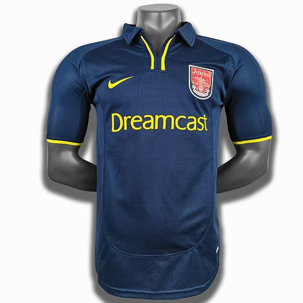 Arsenal retro soccer jersey maillot match men's sportwear football shirt navy 2000-2001