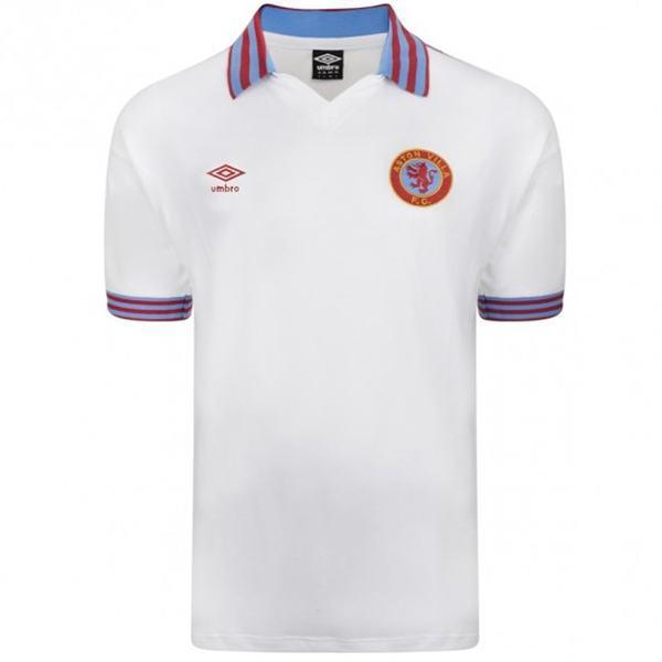 Aston Villa Maglia vintage retrò dell'che commemora la maglia da calcio della seconda maglia da calcio sportiva da uomo del 1980