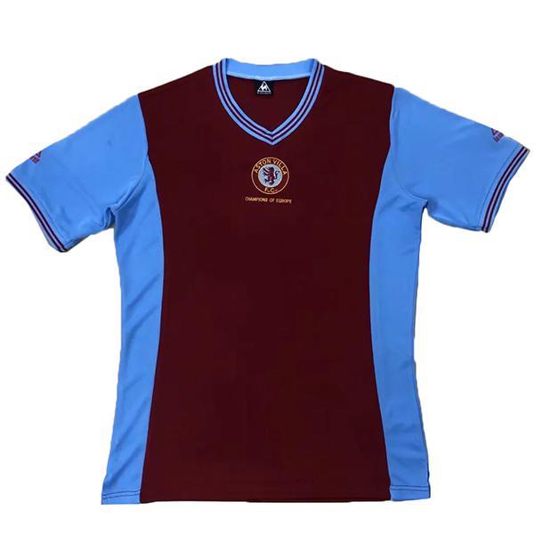 Aston Villa partita di calcio retrò in casa maglia da calcio sportiva da uomo 2012