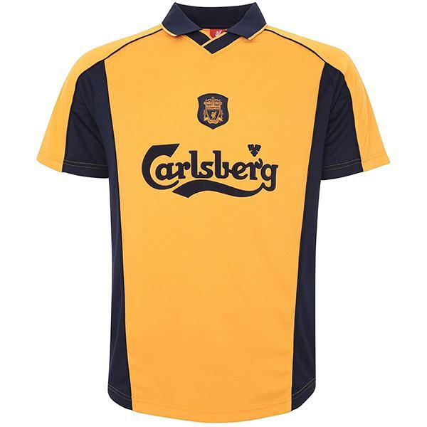 Liverpool away retro soccer jersey maillot match men's 2ed sportwear football shirt 2000-2001