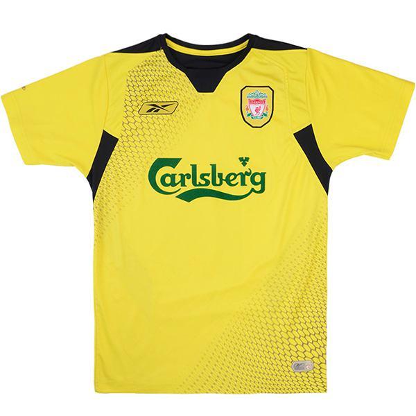 Liverpool away retro soccer jersey maillot match men's 2ed sportwear football shirt 2004-2006