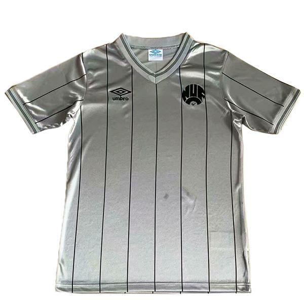 Newcastle United maglia da calcio vintage retrò da trasferta del partita da uomo secondo abbigliamento sportivo da calcio 1984-1986