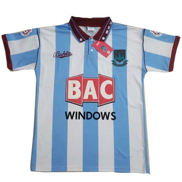West ham away retro soccer jersey maillot match men's second sportwear football shirt 1991-1992