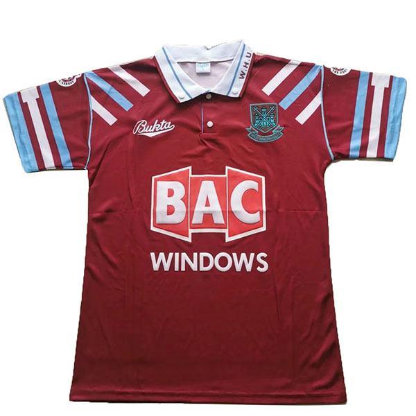 West ham home retro soccer jersey maillot match men's 1st sportwear football shirt 1991-1992
