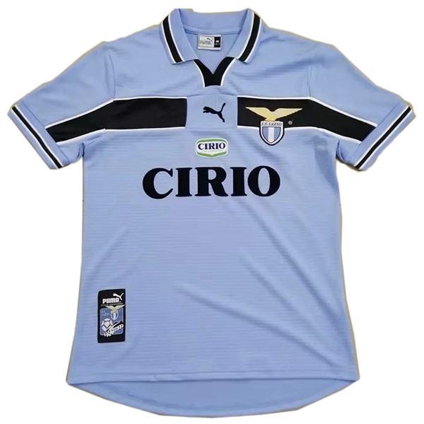 Lazio home retro soccer jersey maillot match men's 1st sportwear football shirt 1999-2000