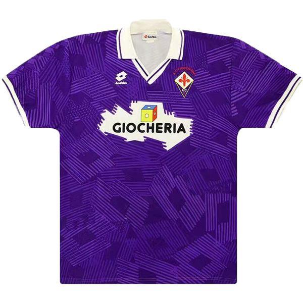 ACF Fiorentina home retro soccer jersey maillot match prima maglia da calcio sportiva da uomo 1991-1992