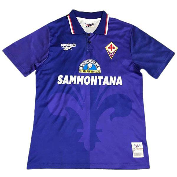 ACF Fiorentina home retro soccer jersey maillot match prima maglia da calcio sportiva da uomo 1995-1996
