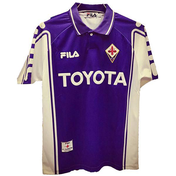 ACF Fiorentina Retro Soccer Jersey Purple 1999/2000