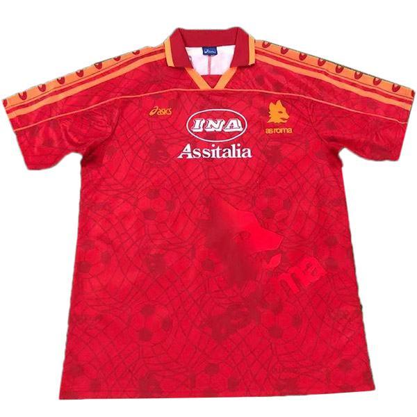 AS roma home retro soccer jersey maillot match 1a maglia da calcio sportiva da uomo 1995-1996