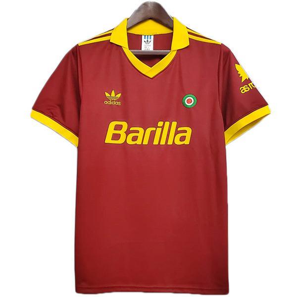 AS roma home retro soccer jersey maillot match prima maglia da calcio sportiva da uomo 1991-1992
