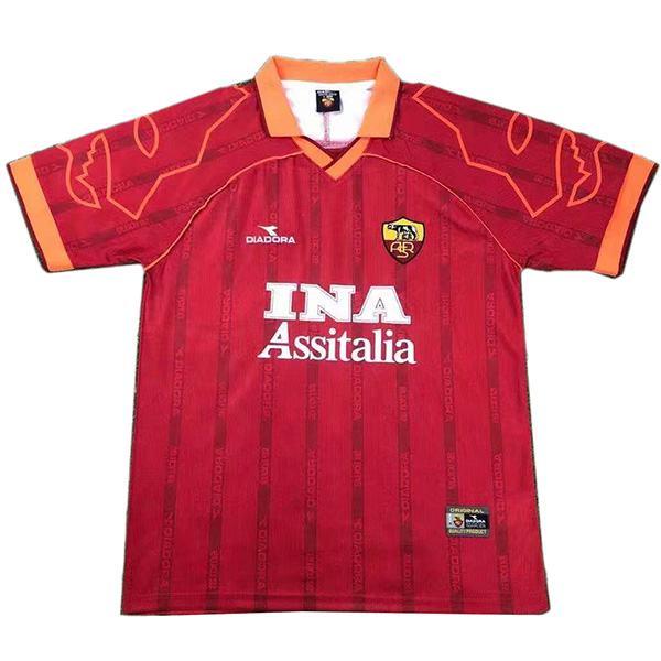 AS roma home retro soccer jersey maillot match prima maglia da calcio sportiva da uomo 1999-2000