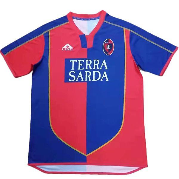 Cagliari Calcio maglia retrò home vintage partita di calcio prima maglia da calcio sportswear uomo 2003-2004