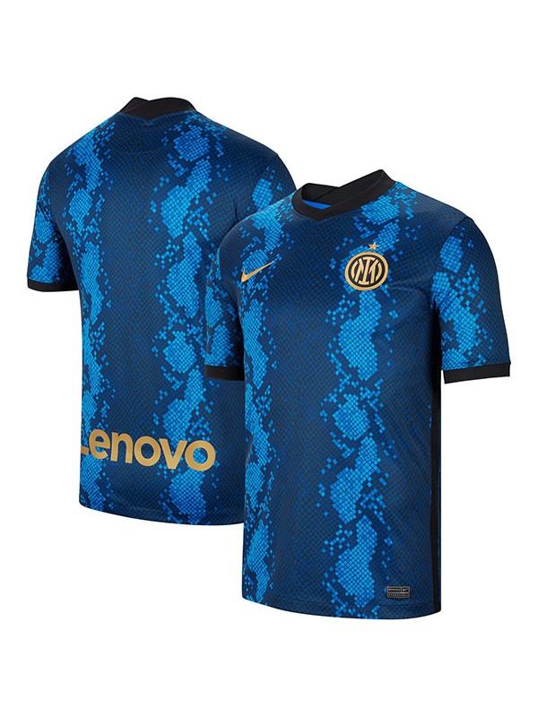 Inter milan maglia partita da uomo prima maglia da calcio sportiva da calcio blu 2021-2022