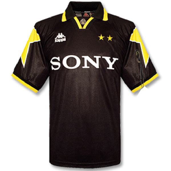 Juventus away retro jersey men's 2ed soccer sportwear football shirt 1995/96