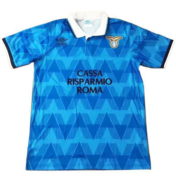 Lazio home retro vintage soccer jersey match prima maglia sportiva da calcio da uomo 1989