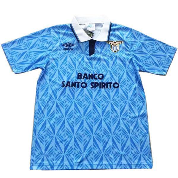Lazio home retro vintage soccer jersey match prima maglia sportiva da calcio da uomo 1991