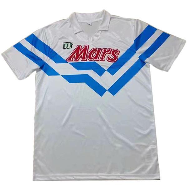 Napoli maglia da calcio retrò abbigliamento sportivo seconda maglia da calcio da uomo t-shirt sportiva da calcio 1988-1989