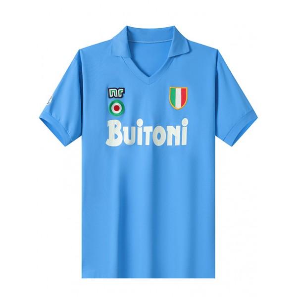 Napoli home retro soccer jersey maillot match men's 1st sportwear football shirt 1987-1988