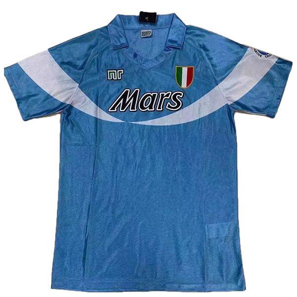 Napoli Maglia da calcio versione home retro special del prima maglia da calcio sportiva da uomo maillot match 1990-1991