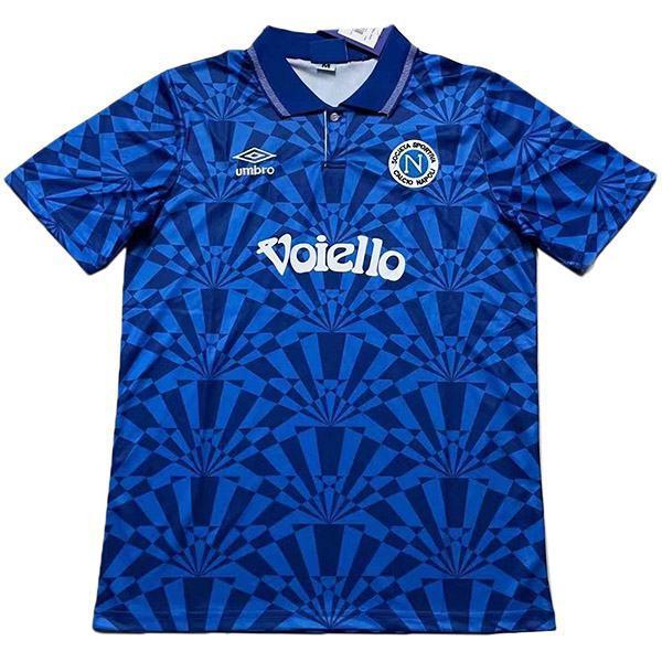 Napoli home retro vintage soccer jersey match da uomo prima sportswear football 1991-1993