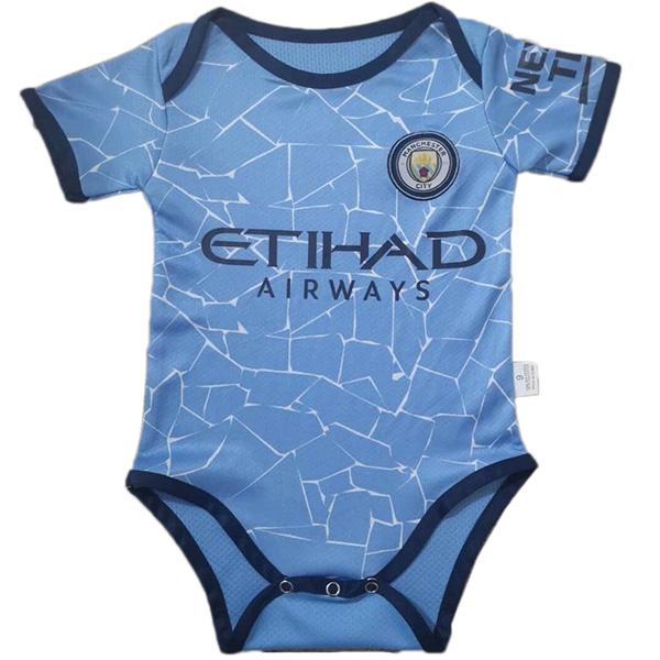 Manchester city home baby onesie kids new born baby sunmmer clothes one-piece junpsuit 2020-2021