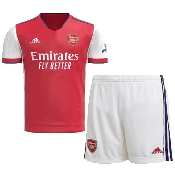 Arsenal calcio maglia home kids dell'per bambini prima maglia da calcio mini maglia maillot match uniformi giovanili 2021-2022